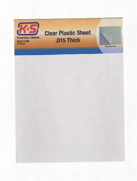Clear Plastic Sheets 0.030 In. Pack Of 2 8.5 In. X 11 In.