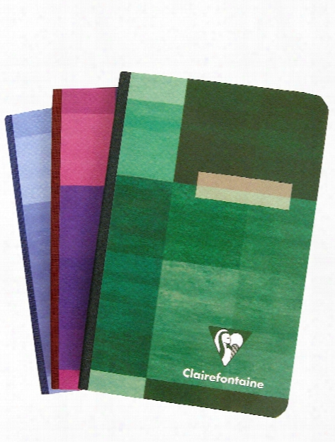 Cloth-bound Notebooks 3 3 4 In. X 5 1 2 In. Ruled 96 Sheets