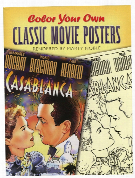 Color Your Own Classic Movie Posters Color Your Own Classic Movie Posters