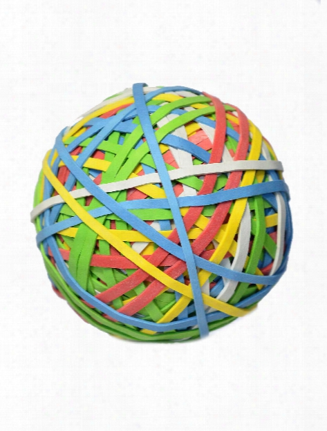 Colored Rubber Band Ball Each