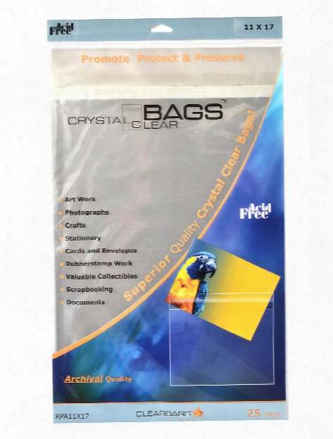 Crystal Clear Photography & Art Bags 8 1 2 In. X 11 In. Pack Of 25