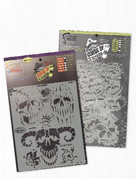 Curse Of Skull Master Freehand Airbrush Templates By Craig Fraser Evil Horde
