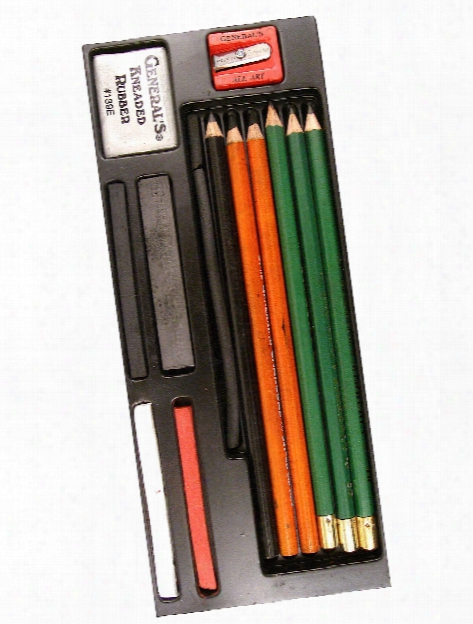 Drawing Class Sesential Tools Kit - Mixed Drawing Media Drawing Kit