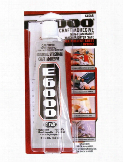 E-6000 Industrial Strength Craft Adhesive 2 Oz.