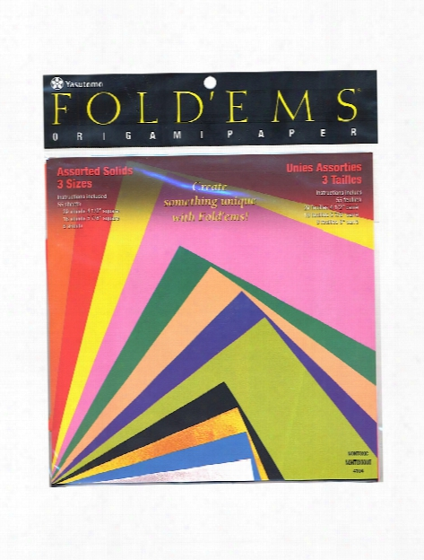 Fold'ems Origami Paper, Assorted Solids Pack Of 55 4104