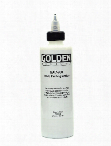 Gac 900 Acrylic Heat-set Fabric Medium 8 Oz.