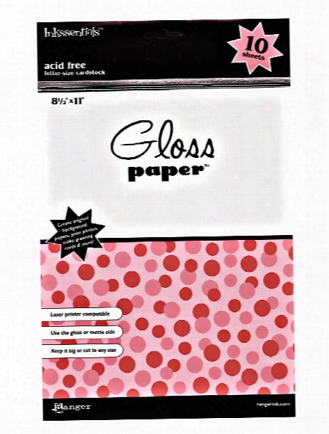 Gloss Paper 10 Sheets 8 1 2 In. X 11 In. White