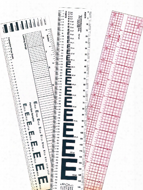 Graphic Art Rulers 1 1 2 In. X 12 In. Transparent