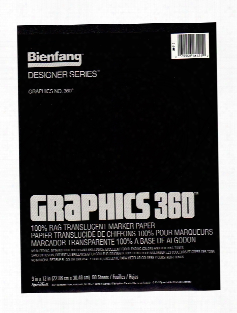 Graphics 360 100% Rag Translucent Marker Paper 14 In. X 17 In. Pad Of 100