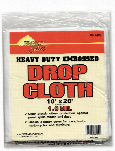 Heavy Duty Embossed Drop Cloth 1 Mm Thick 10 Ft. X 20 Ft.