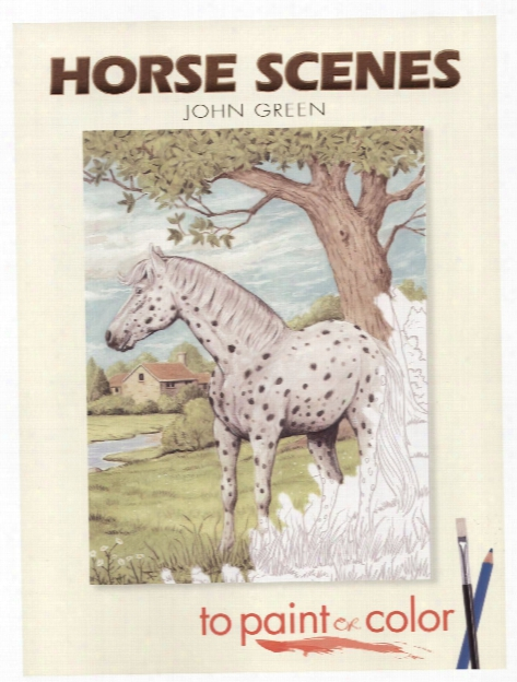 Horse Scenes To Paint Or Color Horse Scenes Coloring Book