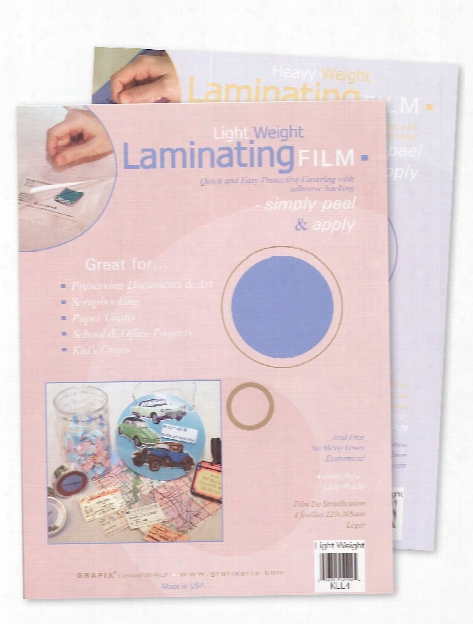 Laminating Film Heavy Weight 9 In. X 12 In. Pack Of 3