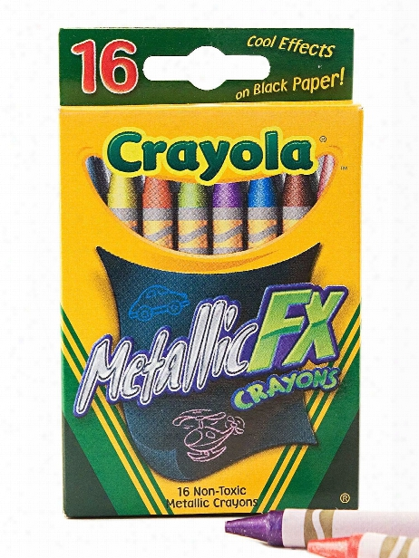 Metallic Crayons Box Of 16