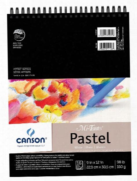 Mi-teintes Pastel Pad With Interleavings White 9 In. X 12 In.