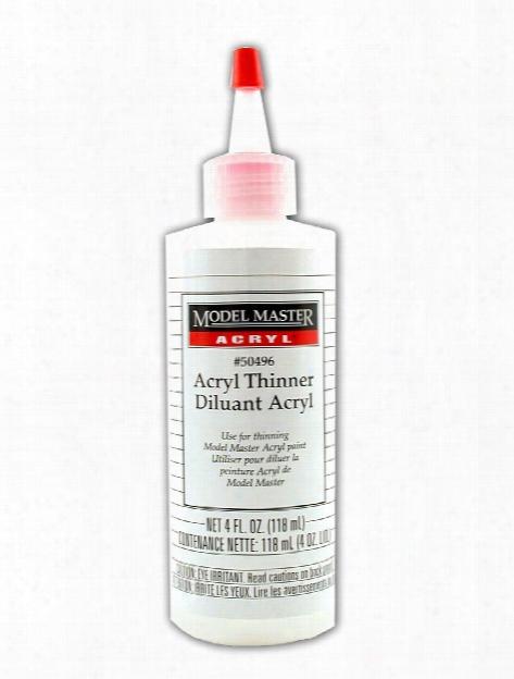 Model Master Acryl Thinner 4 Oz. Bottle