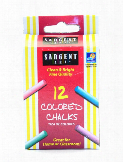 Molded Chalk Assorted Colors Pack Of 12