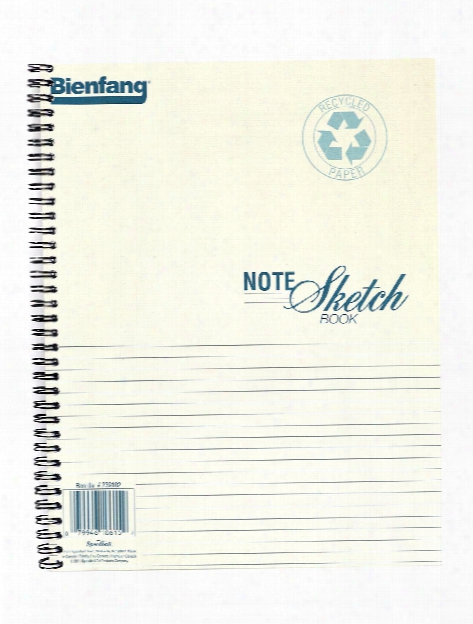 Note Sketch Book Horizontal Format 8 In. X 5 1 2 In.