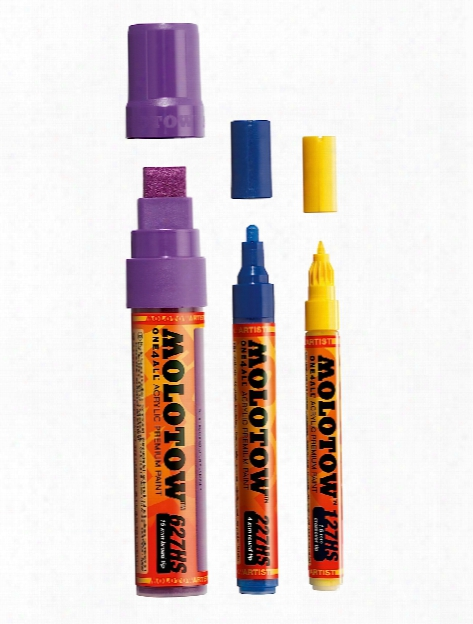 One4all Acrylic Paint Markers 1 Mm Signal Black 180