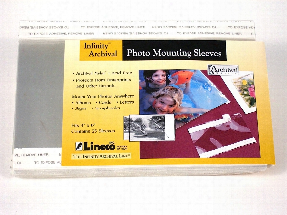 Photo Mounting Sleeves 5 In. X 7 In. Pack Of 25