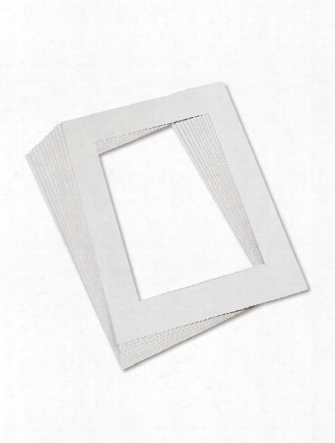 Pre-cut Mat Frames White Pack Of 12