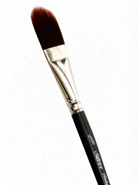 Ruby Satin Series Synthetic Brushes Long Handle 12 Flat 2501