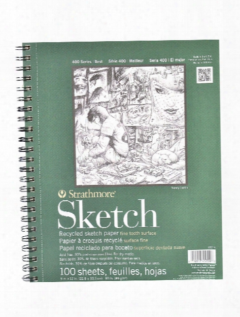Series 400 Premium Recycled Sketch Pads 11 In. X 14 In. 100 Sueets