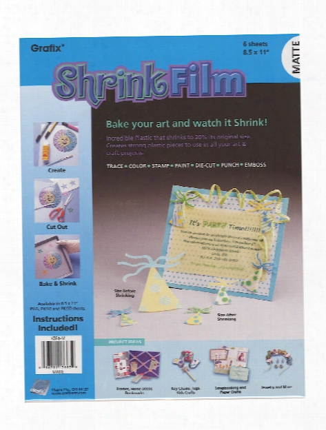 Shrink Film Assorted 8 1 2 In. X 11 In. Pack Of 6