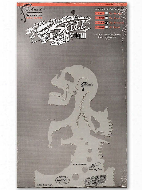 Skull Master Feehand Airbrush Templates By Craig Fraser 7 In. X 9 3 4 In. The Frontal