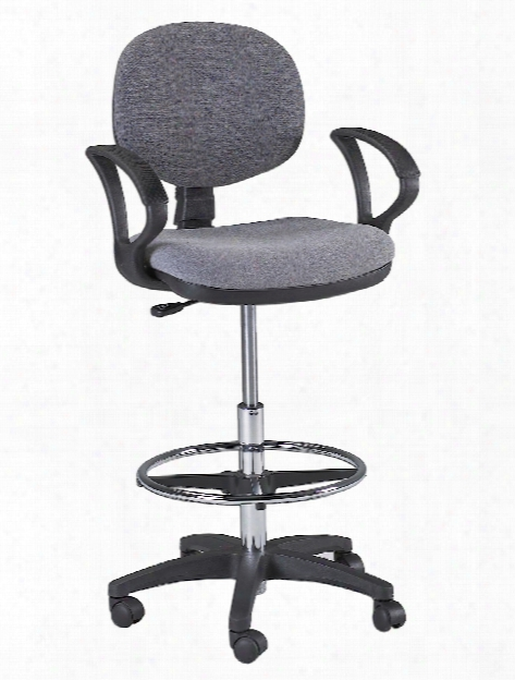 Stanford Drafting And Desk Chairs Drafting Height Black