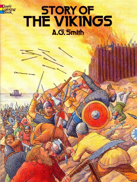 Story Of The Vikings Coloring Book Story Of The Vikings Coloring Book