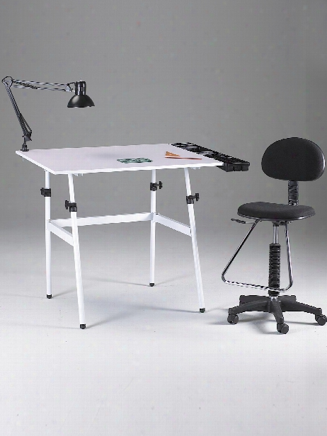 The Berkeley Classic Drafting Table Combo Table With Drafting Height Chair