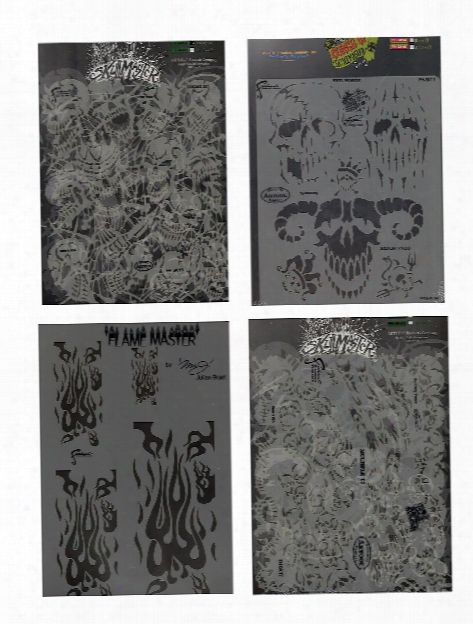 The Return Of Skull Master Freehand Airbrush Templates By Craig Fraser Lucky 13