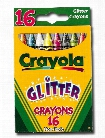 Glitter Crayons box of 16
