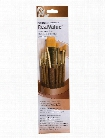 Real Value Series 9000 Brown Handled Brush Sets 9144 set of 5