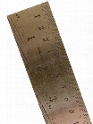 Stainless Steel Rulers Inch Metric with Conversion Table 36 in.