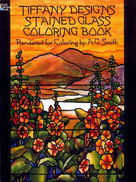 Tiffany Designs Stained Glass Coloring Book Tiffany Designs Stained Glass Coloring Book