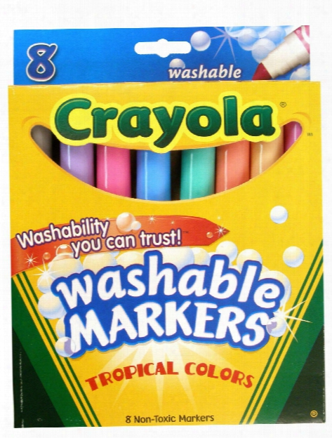 Tropical Colors Ultra-clean Washable Markers Box Of 8