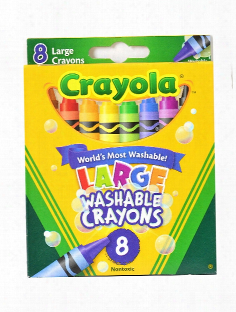 Ultra-clean Washable Large Crayons Box Of 8