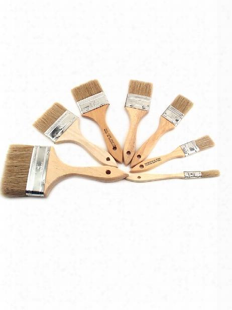 White Bristle Wash Brush 1 2 In.