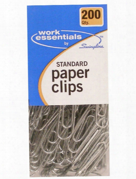 Work Essentials Standard Paper Clips Pack Of 200