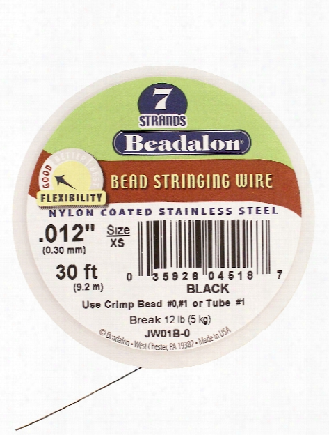 7 Strand Bead Stringing Wire Satin Copper .012 In. (0.30 Mm) 30 Ft. Spool