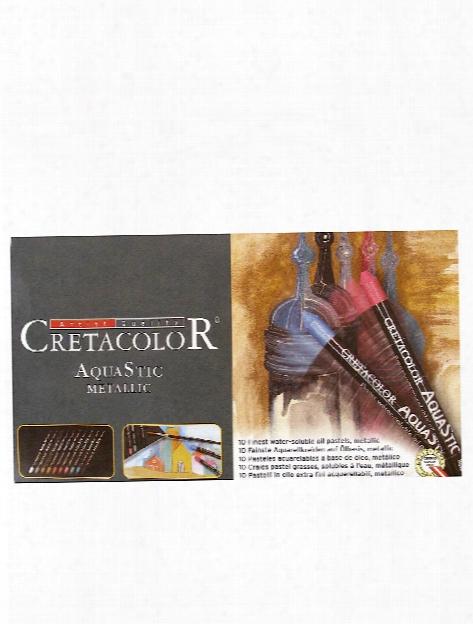 Aquastic Oil Pastel Sets Metallic Colors Set Of 10