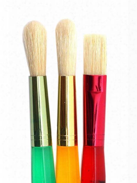 Big Kid's Choice 3-piece Flat And Round Brush Set Set Of 3
