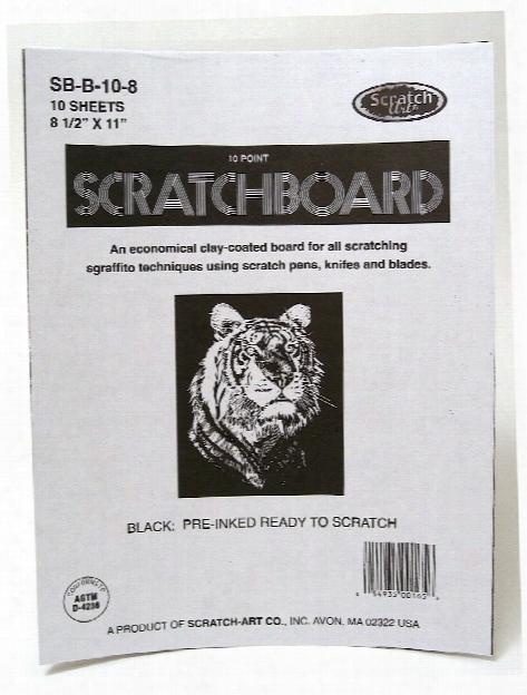 Black Coated Scratchboards 8 1 2 In. X 11 In. Pack Of 10
