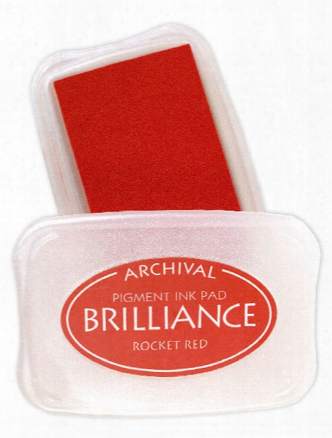 Brilliance Archival Pigment Ink Mediterranean Blue 3.75 In. X 2.625 In. Pad