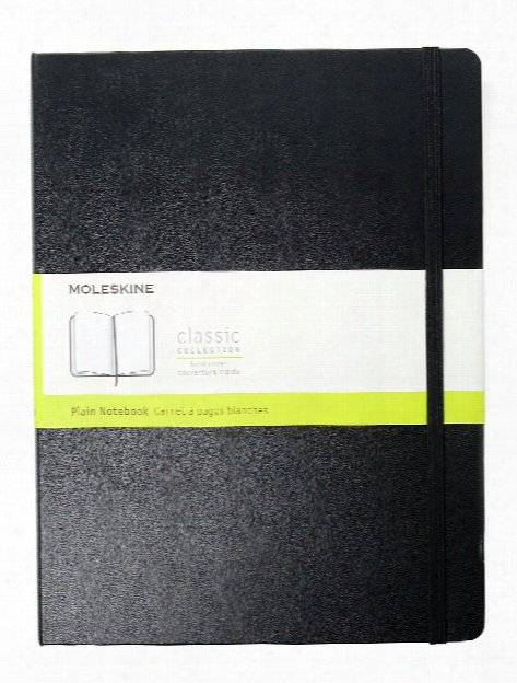 Classic Hard Cover Notebooks Black 3 1 2 In. X 5 1 2 In. 192 Pages, Squared