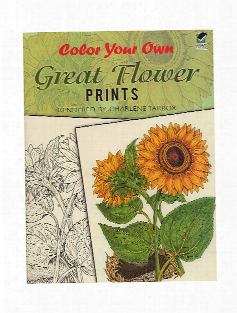 Color Your Own Great Flower Prints Color Your Own Great Flower Prints