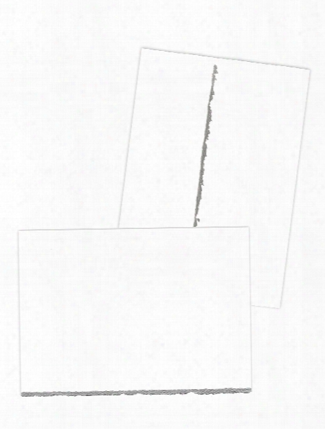 Deckle Edge Creative Cards Cards And Envelopes White With Gold Deckle Pack Of 10