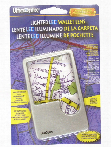 Lighted Led Wallet Lens Magnifier