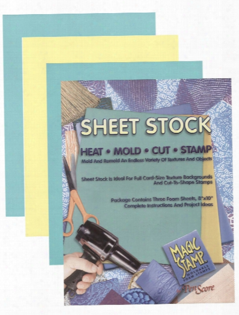 Magic Stamp Moldable Foam Stamps Sheet Stock 8 In. X 10 In. Pack Of 3